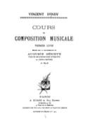 Cours de composition musicale, premier livre laflutedepan.com