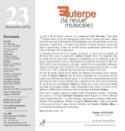Euterpe, la revue musicale - N° 23 Revue Livre laflutedepan.com