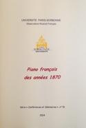 Piano français des années 1870 PISTONE Danièle (dir.) laflutedepan.com