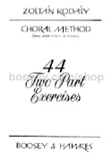 44 two part exercices Zoltan KODALY Livre laflutedepan.com