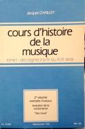 Cours d'histoire de la musique : Tome 1 vol. 2 laflutedepan.com