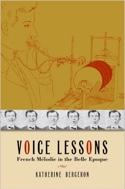 Voice Lessons (Livre en anglais) Katherine BERGERON laflutedepan.com