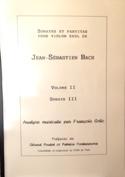 Jean Sébastien Bach : Sonate III François GOÏC Livre laflutedepan.com