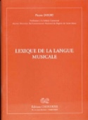 Lexique de la langue musicale Pierre DOURY Livre laflutedepan.com