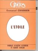 L'étoile (livret) Emmanuel CHABRIER Livre laflutedepan.com
