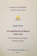 Les suppléments de Musica (1902-1914) Danièle PISTONE laflutedepan.com