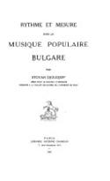 Rythme et mesure dans la musique populaire bulgare - laflutedepan.com