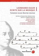 Écrits sur la musique vol. 1 Leonhard EULER Livre laflutedepan.com