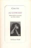 Au concert - Sidonie Gabrielle COLETTE - Livre - laflutedepan.com