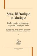 Sens, réthorique et musique ALBERT Sophie ed. Livre laflutedepan.com