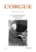 L'orgue, n° 313 - Une histoire rémoise : Henri Dallier (1849-1934) laflutedepan.com