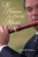 The notation is not the music Barthold KUIJKEN Livre laflutedepan.com