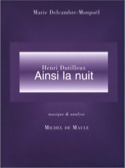 Henri Dutilleux : Ainsi la nuit - laflutedepan.com