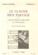 Le clavier bien partagé PALMIER Nadine / RIGAL Joël laflutedepan.com