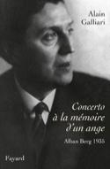 Concerto à la mémoire d'un ange Alain GALLIARI Livre laflutedepan.com