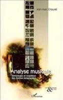 Analyse Musicale - CHOUVEL Jean-Marc - Livre - laflutedepan.com
