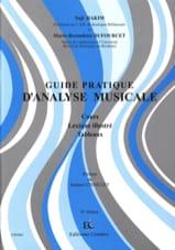 Guide pratique d'analyse musicale : cours, lexique illustré, tableaux - laflutedepan.com