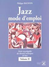 Jazz mode d'emploi, vol. 2 Philippe BAUDOIN Livre laflutedepan.com