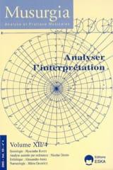 Musurgia, vol. XII - n° 4 (2005) : Analyser l'interprétation laflutedepan.com