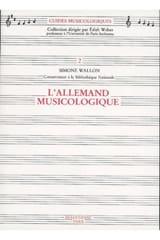 L'Allemand musicologique - Simone WALLON - Livre - laflutedepan.com
