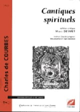 Cantiques spirituels Charles de COURBES Livre laflutedepan.com