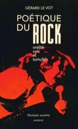 Poétique du rock VOT Gérard LE Livre Les Oeuvres - laflutedepan
