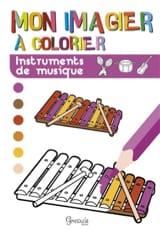 Mon imagier à colorier : instruments de musique - laflutedepan.com