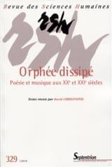 Revue des sciences humaines, n° 329 : Orphée dissipé - laflutedepan.com