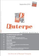 Euterpe, n° 30 - Juillet 2018 - Revue - Livre - laflutedepan.com