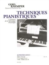 Techniques pianistiques - Gerd KAEMPER - Livre - laflutedepan.com