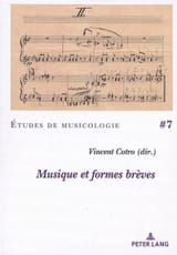 Musique et formes brèves COTRO Vincent dir. Livre laflutedepan.com