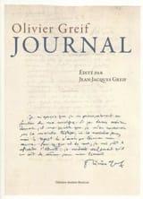 Journal Olivier GREIF Livre Les Hommes - laflutedepan.com