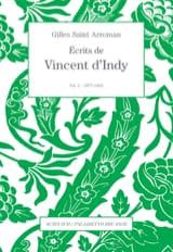 Écrits de Vincent d'Indy, vol. 1 D'INDY Vincent Livre laflutedepan.com