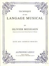Technique de mon langage musical MESSIAEN Livre laflutedepan
