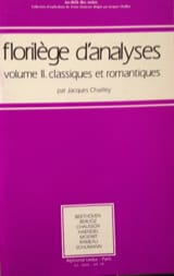 Jacques CHAILLEY - Analysis anthology, vol. 2: classic and romantic - Book - di-arezzo.co.uk
