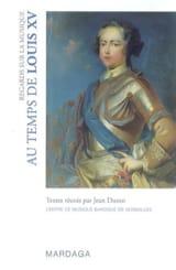 Jean DURON - Regards sur la musique - Au temps de Louis XV - Livre - di-arezzo.fr