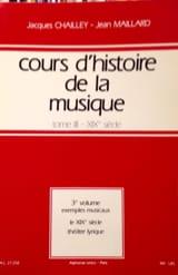 Cours d'histoire de la musique : Tome 3 vol. 3 laflutedepan.com