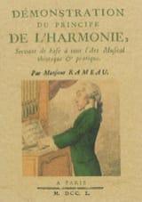 RAMEAU Jean-Philippe - Démonstration du principe de l'harmonie - Livre - di-arezzo.fr