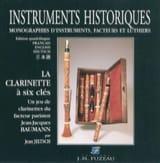 La clarinette à six clés Jean JELTSCH Livre laflutedepan.com