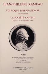 Jean-Philippe Rameau DE LA GORCE Jérôme (dir.) Livre laflutedepan.com