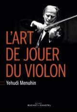 L'art de jouer du violon Yehudi MENUHIN Livre laflutedepan
