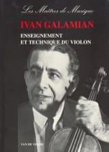 Enseignement et technique du violon Ivan GALAMIAN laflutedepan.com