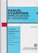 Jacques PETIT - Harmony Manual, Vol. 4: Improvisation and invention - Book - di-arezzo.co.uk