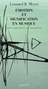Emotion et signification en musique MEYER Leonard B. laflutedepan.com