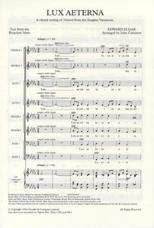 ELGAR - Lux aeterna - Sheet Music - di-arezzo.co.uk