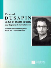 Pascal Dusapin - So Full Of Shapes Is Fancy - Partition - di-arezzo.fr