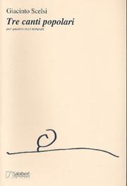 Giacinto Scelsi - 3 Canti Popolari. - Sheet Music - di-arezzo.co.uk