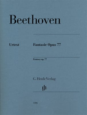 BEETHOVEN - Fantaisie op. 77 - Partition - di-arezzo.fr