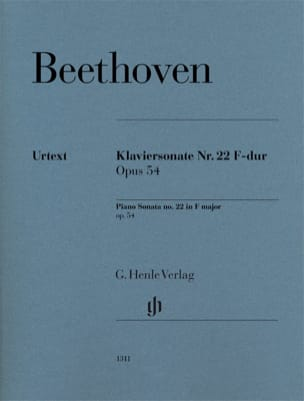 Ludwig van Beethoven - Sonate pour piano n° 22 en Fa majeur op. 54 - Partition - di-arezzo.fr
