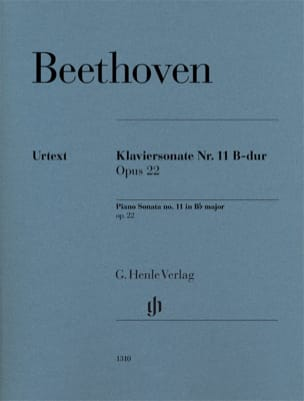 BEETHOVEN - Sonate Pour Piano n° 11 en Si bémol Majeur Op. 22 - Partition - di-arezzo.fr